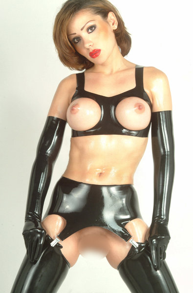 gb paar latex strapse