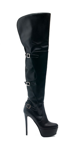 Leather Overknee Boots
